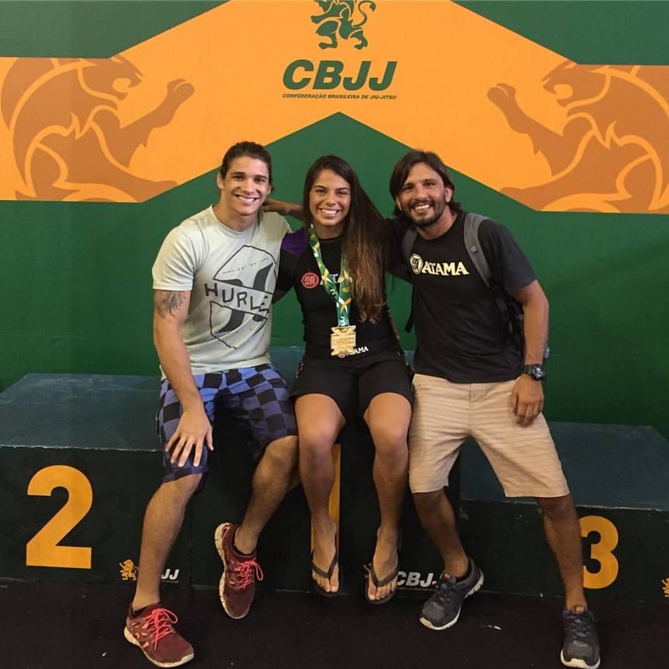 Hugo, Julia e Tatu no Brasileiro Sem Kimono / Foto: arquivo pessoal