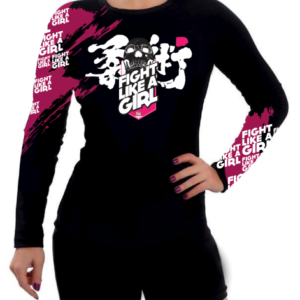 Rashguard Fight Like a Girl Rose