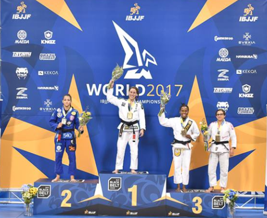 Pódio categoria leve feminino Mundial 2017