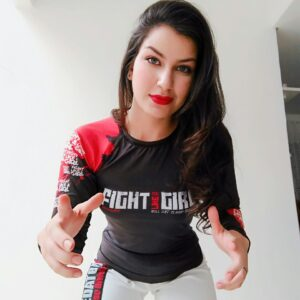 rashguard fight like a girl red