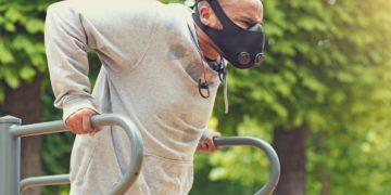 máscara de treinamento em altitude