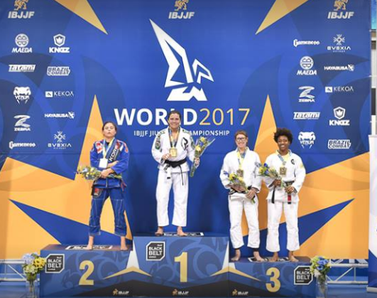 Pódio faixa preta peso médio Mundial IBJJF 2017